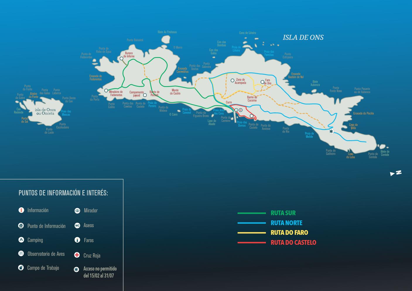 Rutas de Senderismo Isla de Ons
